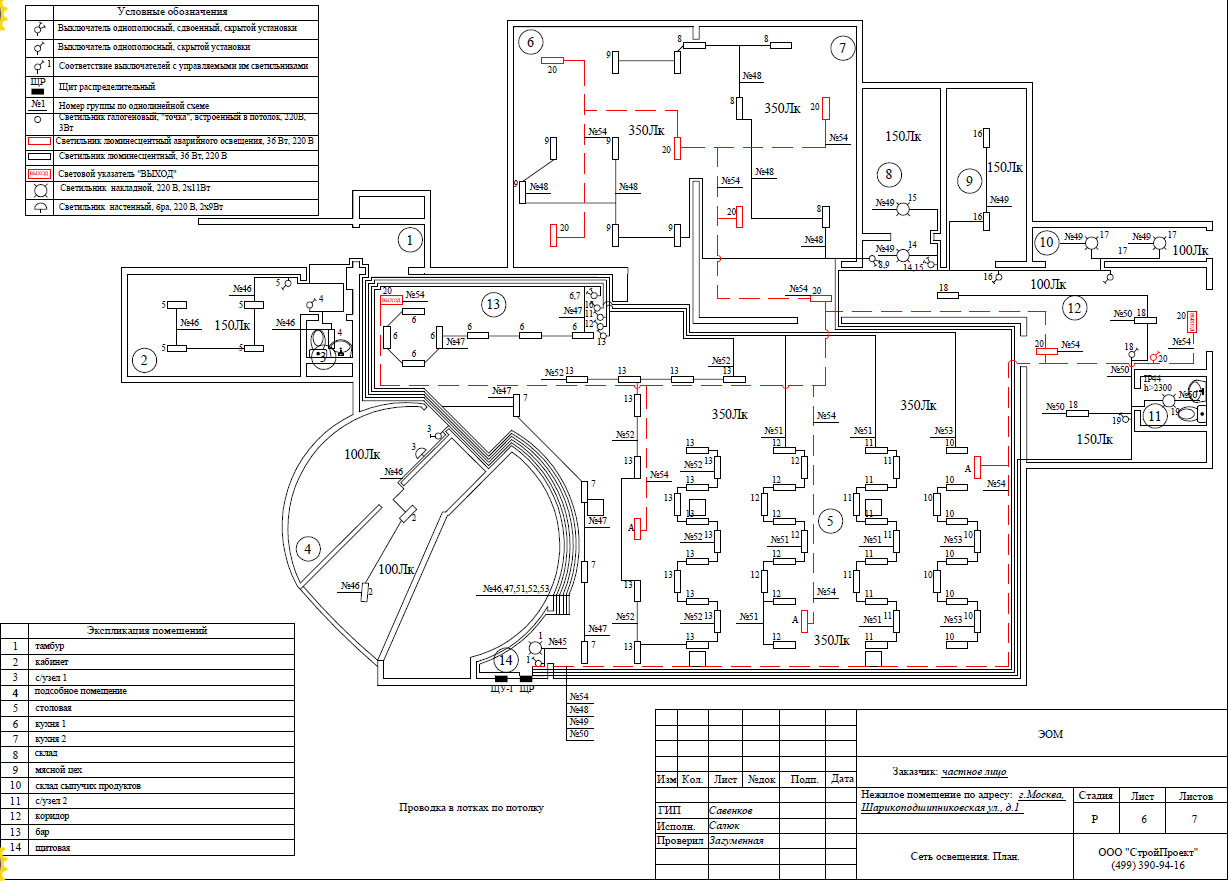 Проект электроснабжения ресторана проектирование электрики  Это пример расширенного проекта элероснабжения ресторана